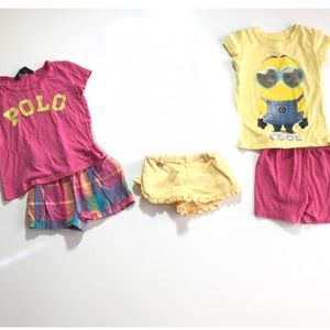 3T Girl Summer Clothes Bundle Shorts Tops Polo RL